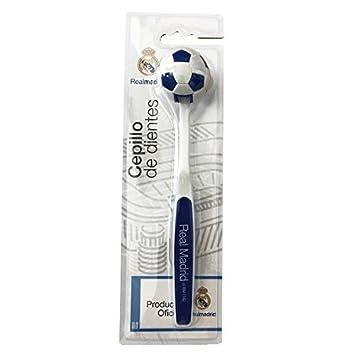 Real Madrid - cepillo de dientes con tapa de balón de fútbol de Real Madrid: Amazon.es: Hogar