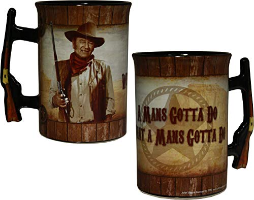 John Wayne 16oz Mug with Rifle Handle -