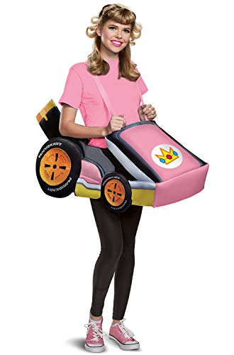 Disguise Women's Peach Kart Adult Costume, Pink, One Size