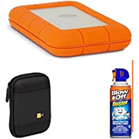 LaCie Rugged Thunderbolt and USB 3.0 1TB 9000488 With Hard Drive Case Bundle