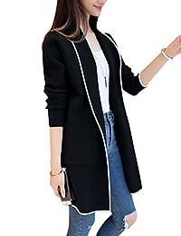 Zehui Chaqueta de Media Larga de Moda para Mujer, Cazadora para Las Mujeres, Cárdigan Clásico y Exclusivo para Todos los Partidos, 2018 últimos Modelos
