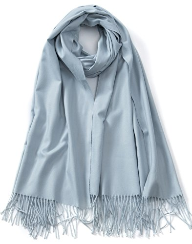 Cindy & Wendy Large Soft Cashmere Feel Pashmina Solid Shawl Wrap Scarf for (Cashmere Cotton Wrap)