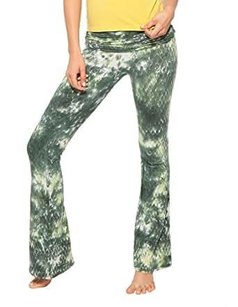 OmGirl Women's Snake Charmer Yoga Pants - Tempting Pear, Large