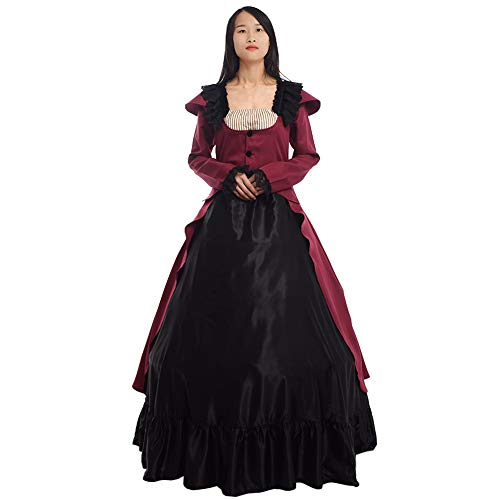 (GRACEART Women Victorian Dress Medieval Ball Gown Costume Maiden Cosplay Gown)