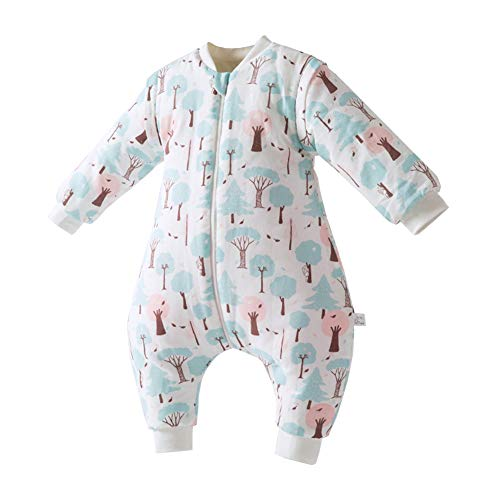 Fairy Baby Toddler Baby Unisex Winter Warm Sleepsack Bag Romper Thick Wearable Blanket Size 1T (Pine) - Pine Kids Sleeping Bag