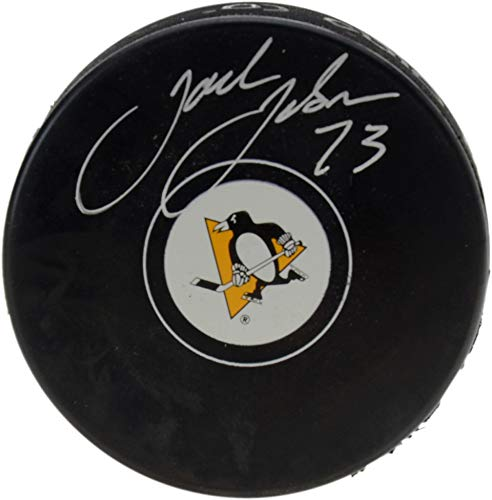 Jack Johnson Pittsburgh Penguins Autographed Hockey Puck - Fanatics Authentic Certified - Autographed NHL Pucks