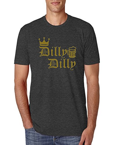 Dilly Dilly Logo Gold Beer | Mens Pop Culture Premium Tri Blend Tee Graphic T-Shirt, Vintage Black, X-Large 1 Vintage Inspired Tee