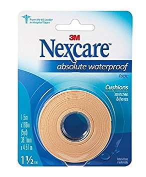 Nexcare Absolute Waterproof Wide Tape, 1 X 5 yd. Per Roll (4 Rolls) by Nexcare