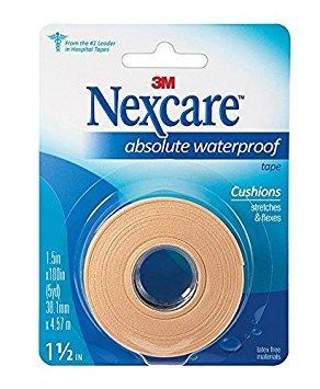Nexcare Absolute Waterproof Wide Tape, 1 X 5 yd. Per Roll (4 Rolls)