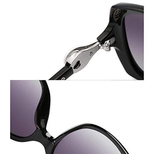 F De Odshy Protection Soleil Brown Lunettes Noir Femme couleur Visage Rond Taille Élégant Polarisées Uv wZ5wOrxq
