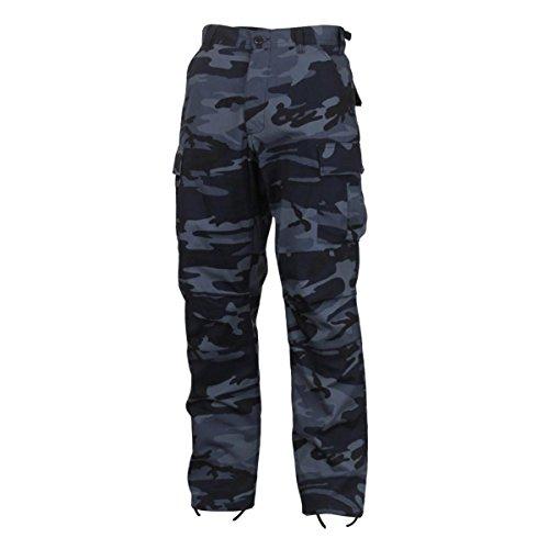 Rothco Color Camo Tactical BDU Pant, Midnight Blue Camo, 2XL