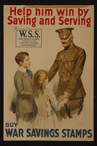 - ClassicPix Photo Print 12x18: Help Him Win by Saving and Serving-Buy War Savings Stamps, 1918