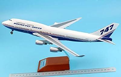 JC Wings 1:200 XX2174 Boeing 747-400 House Colour Diecast Aircraft Model Reg#N747ER
