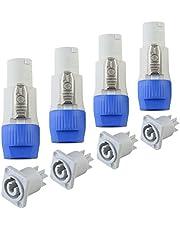 Neutrik Powercon-connector Nutricke-stekkerkop 3-pins XLR mannelijke en vrouwelijke kanonkop Luidspreker Audiostekker voor DMX-signaaldraad of bekabelde microfoonkabelverbinding