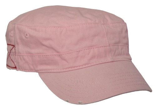 BDU Inspired Low Profile Short Bill Adjustable Cap Hat (Pink, One Size Fits Most)