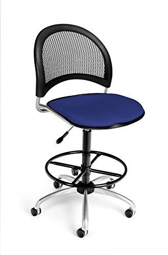 (OFM 336-DK-2210 Moon Swivel Chair with Drafting Kit, Royal Blue)