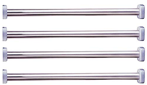 Bobrick 6047x36 ClassicSeries 304 Stainless Steel Extra Heavy Duty Shower Curtain Rod with Square End Flange, Satin Finish, 1-1/4'' Diameter x 36'' Length (Pack of 4) by Bobrick (Image #2)