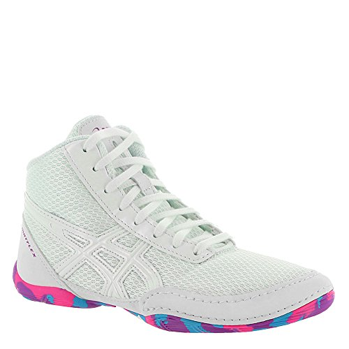 ASICS Matflex 5 Gs White/White/Multi Wrestling Shoes 13 by ASICS