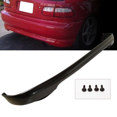 Remix Custom For 92-95 Honda Civic 3DR Hatchback Type R PU Rear Body Bumper Lip Spoiler Kit ()