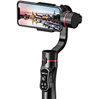 3-Axis Handheld Gimbal Stabilizer for Smartphone up to 200g and 6 inches i.e. iPhone X, Samsung Galaxy, Huawei Mate Wireless Control Vertical Shooting Panorama Mode by Wewow A5