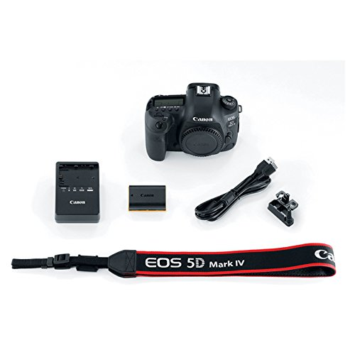 Canon EOS 5D Mark IV 30.4 MP Full Frame CMOS DSLR Camera Body Bundle with EF 100-400mm f/4.5-5.6L is II USM Lens, Automatic Flash, Shotgun Microphone, 128GB Memory Card and Accessories (19 Items)
