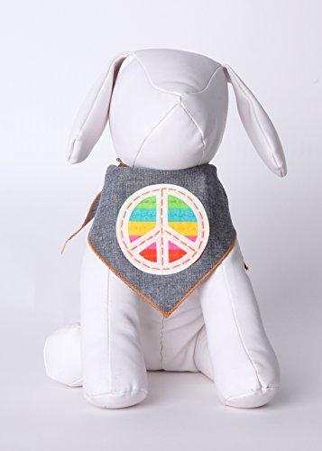 Product image of Tail Trends Unity Peace Dog Bandana for Medium to Large Sized Dogs - 100% Cotton (Medium)