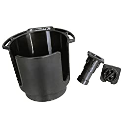 Scotty #311-bk Cup Holder With Rod Holder Post & Bulkhead Black