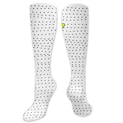 Women's Lemon Juicy Fruit Thigh High Socks Over The Knee High Stocking, Sexy Compression Sock For Running