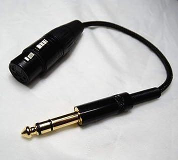 NewFantasia HiFi 6.35mm 1//4 Male to 4-pin XLR Female Balanced Headphone TRS Audio Adapter for 4-pin XLR Male Headphone Cable