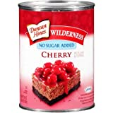Duncan Hines Wilderness No Sugar Added Pie Filling & Topping, Cherry (Pack of 14)