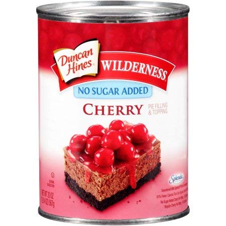 Duncan Hines Wilderness No Sugar Added Pie Filling & Topping, Cherry (Pack of 20) by Generic (Image #1)