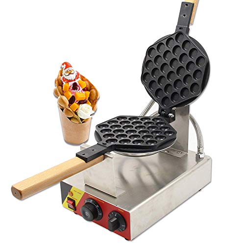 CGOLDENWALL NP-547 Commercial Electric Hong Kong eggettes Egg Waffle Iron Maker Non-Stick Electric Eggettes Bubble Waffle Maker Iron Machine Baker 110V CE Certification