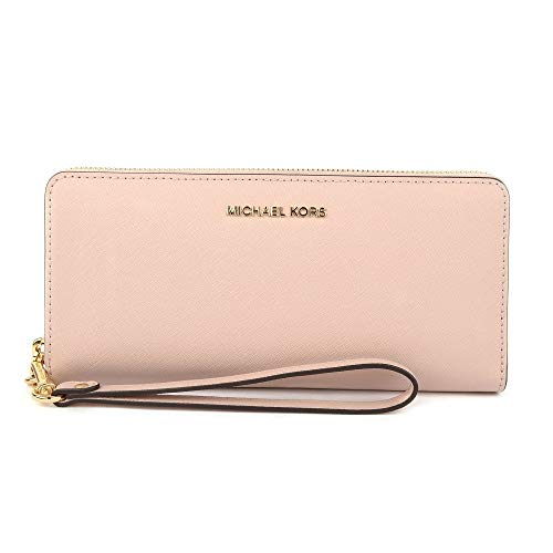 (Michael Kors Jet Set Travel Large Flat Multifunction Smartphone Saffiano Leather Wristlet Case, Ballet)