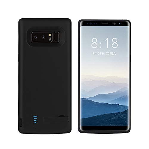 RUNSY Samsung Galaxy Note 8 Battery Case, 6500mAh Rechargeable Battery Charging/Charger Case with S-Pen Hole, Adds 1.4X Extra Juice, Charges 2 Devices Simultaneously (6.3 inch for Note ()