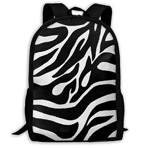 - COLORFULSKY Laptop Backpack 15.6 Inch Stylish Computer Backpack School Backpack Water Repellent Travel Backpack for Women and Men, Black White Zebra Stripe