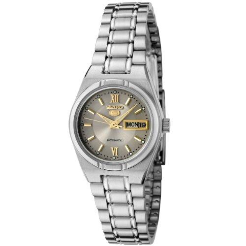 Seiko Women's SYM703K Seiko 5 Automatic Grey Dial Stainless Steel Watch