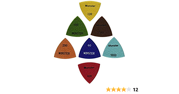 3PCS 3/'/' Resin Triangle Diamond Polishing Pad with Back