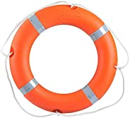 Life Buoy, Thicken Solid, Lightweight Safety Ring Buoy, Foam Ring Buoy with Perimeter Rope,for Large Swimming