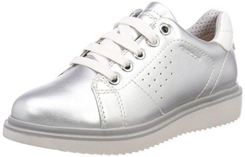 Girl Thymar Para Cordones Geox Zapatos Niñas De A Plateado J Derby qSawRTP