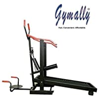 Gymally 4 In 1 Manual Treadmill Walk or Foldable Jogger Fitness Lose Weight for Home Gym/Cardio