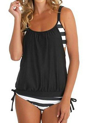 Myobe Striped Tankini Swimsuits Bathing