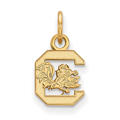 10k Yellow Gold University of South Carolina Gamecocks Cocky Mascot Pendant XS - (10 mm x 8 mm)