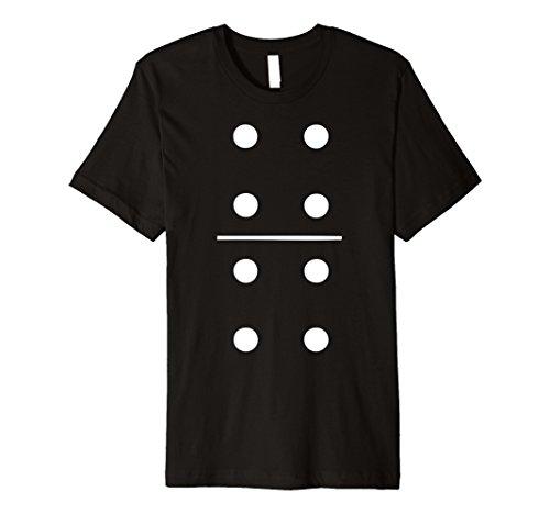 Mens Domino Halloween Costume Group T-Shirt 4-4 Tile Piece Tee Medium Black for $<!--$18.99-->