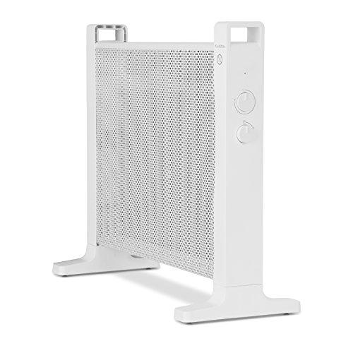 Klarstein HeatPalMica15 • Calefacción eléctrica • Estufa • Mica • Calor rápido • Potencia de 1500W • 2 niveles de calor • Montaje en pared • Baño ...