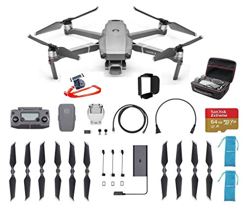 DJI Mavic 2 Pro Fly More Deluxe Bundle with 64G Extreme SD Card and Protective Hard Case and More
