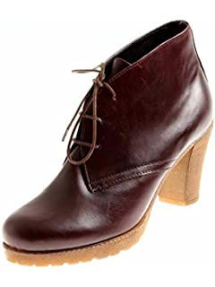 Isabelle boots à lacets chaussures femme cuir bottines COMBAT taupe 6038 - Taupe, 40 EU