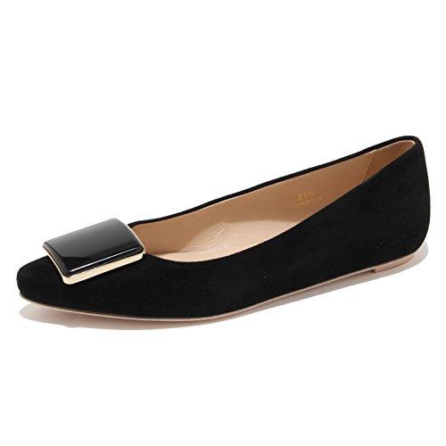 94173 ballerina TODS CUOIO SR PLACCA RIGING nero scarpa donna shoes women Nero