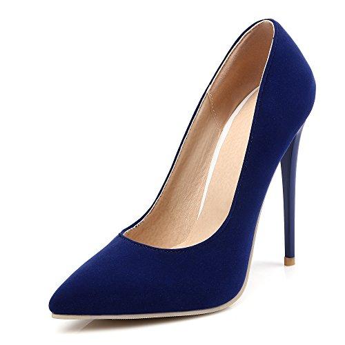 Heel Pumps Damenmode Pumps Blau Spitzschuh Stiletto High Schwarz Super Damen 8Ir8q