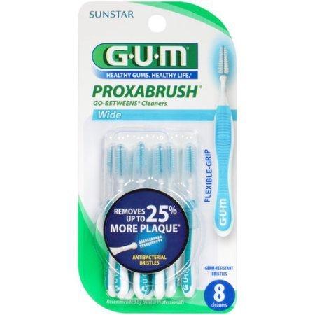 Butler GUM Go-Betweens Proxabrush Cleaners Wide 8 Each