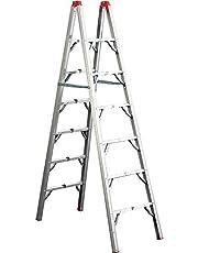 GP Logistics SLDD7 7' Compact Folding Ladder , Red